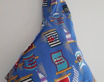 """Flags, skulls"" pirate purse/bag fabric child/snack/storage bag"