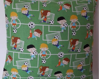 Cushion cover Football; 40x40cm