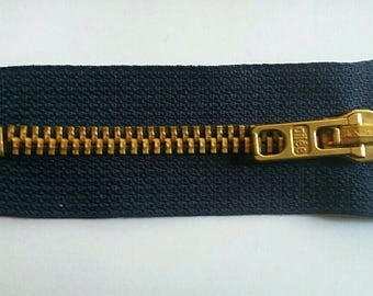 thick blue zipper (solid) 8 cm, fabric Navy