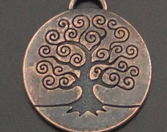 8 charms tree of life medal 24 * 24 * 3 mm
