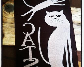 Cats, cat, Brown transfer. VELVET-NEW APPEARANCE