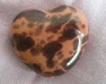 Pink ceramic heart bead