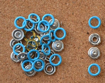 Bag of 20 snaps claw blue TURQUOISE 11mm to ask