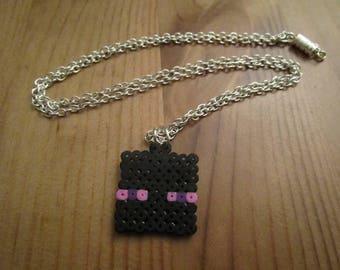 Pixel Art/beading - {Minecraft} - Enderman necklace