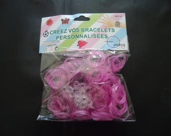 bag of 200 pieces for jewelry - DIY - purple