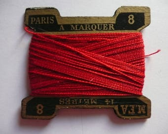 WIRE CARD color red number 8
