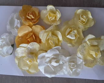 Colors yellow paper flowers