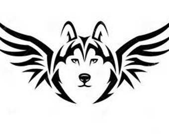 Tribal Wolf decal