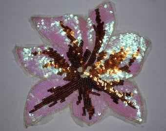 1 badge fleur de lis rhinestone