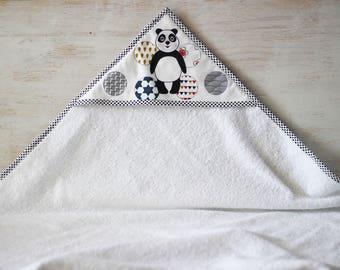 Hooded towel pattern panda