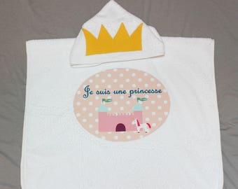 "Bath poncho ""I'm a Princess"""