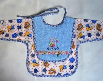 Personalized apron baby bib