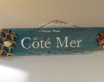 """Seaside"" decorative sign"