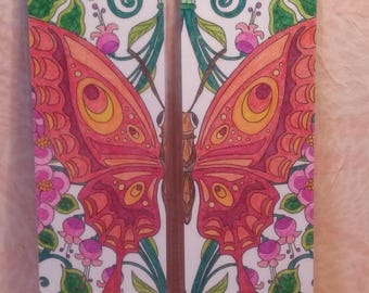 "Bookmark - Duo ""Butterfly flower"""