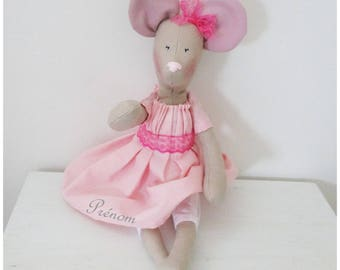 Mouse doll style Shabby Chic large customizable model