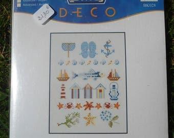 """Cross DMC """"Peach Panel"""" stitch Kit"""