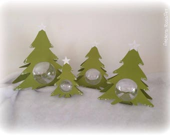 Christmas tree Christmas 15 cm + 5cm transparent ball