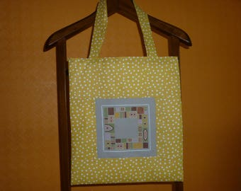 "tote bag embroidered with ""ethnic"" cross stitch fabric"