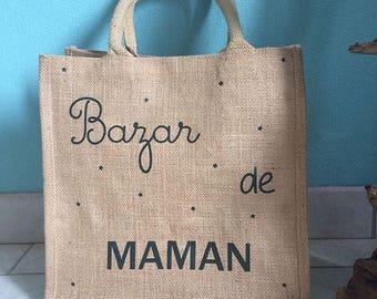 Bag jute tote bag jute customizable trend several sizes