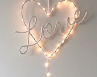 Wall light / heart love light