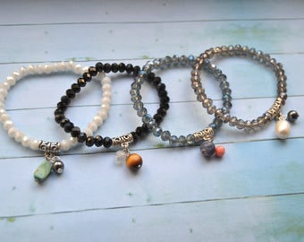 1 bracelet beads and Crystal stones