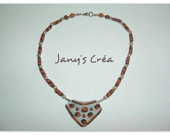 Completely handmade polymer clay necklace