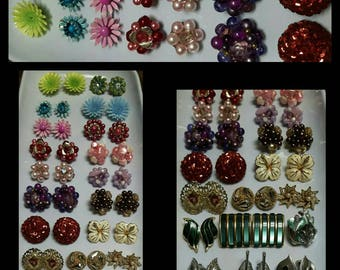 Unique High Quality Vintage Clip-on & Screw-in Earrings Lot