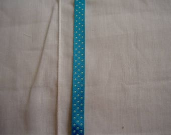 Turquoise Ribbon with polka dots