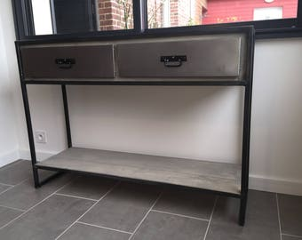 Industrial Cabinet console 2 steel valves