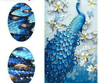 Diamond Painting,Full Drill Diamond Picture,Peacock Wall Deco,DIY Diamond Mosaic Picture,Rhinestone Mosaic Deco,Wall Deco,DIY Gift
