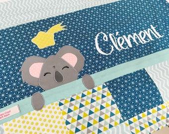 Couverture pour bébé - cotton / fleece - seafoam green yellow blue