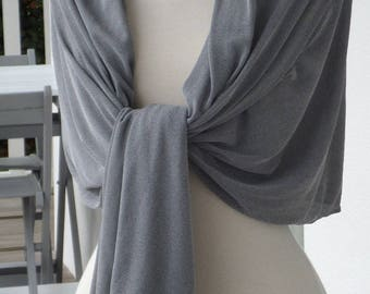 Shawl woman grey comfortable wedding