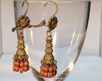 Earrings bronze brown Créaxy