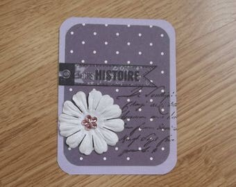 Small purple card for your scrapbooking creations.