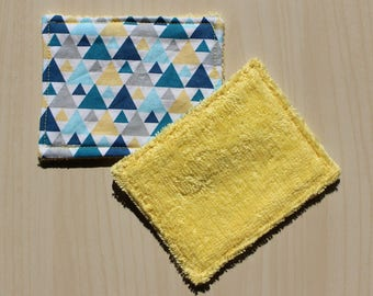 """Washable wipe """"small"""" - 8.5 x 11 cm - triangle pattern"""