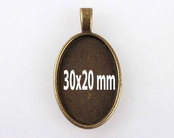 30 X 20 MM/5 for cabochon pendant backings