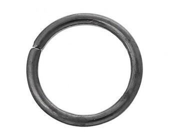 10 round 14 mm Gunmetal jump rings
