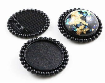 25 mm / 5 holders brooch ring 25 mm within 10 days
