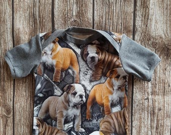 English Bulldog Baby T-shirt size 68