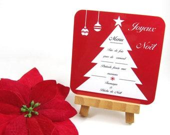 Christmas coaster menu personalized custom Christmas coasters Christmas tree table decoration