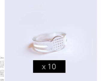 10 support of adjustable ring - silver color
