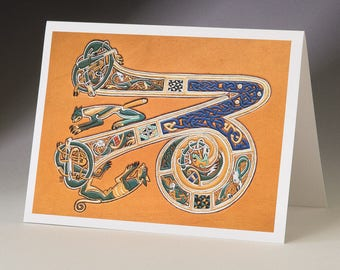 Z -  from Book of Kells Art Card