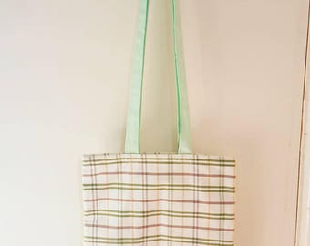 "The ""Sandy"" tote bag green multi stripe"