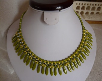 """""""The spring' weaving with daggers statement NECKLACE"""