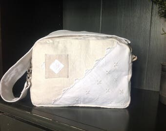 Toilet bag made from old linen