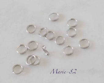 Double 5 mm - stainless steel rings