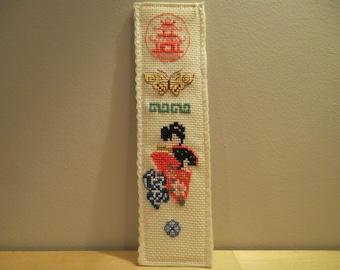 marque-pages aux motifs japonais