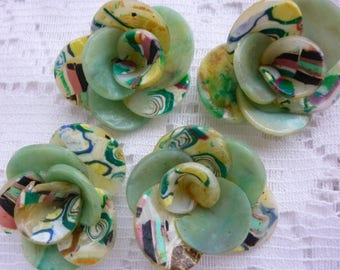 CREATIONS OF JEWELS, DECO, ACCESSORIES, POLYMER CLAY FLOWERS