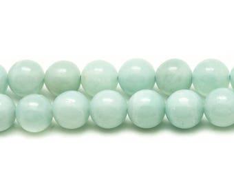 4pc - stone beads - Amazonite 10mm 4558550025715 balls
