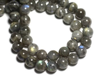 10pc - stone beads - Labradorite 6mm - 8741140017900 balls